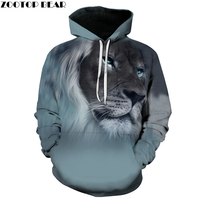 2017 New Fashion 3D Animal Hoodies Print Men Women Harajuku Sweatshirt Casual Graphics Pullover Hoody S