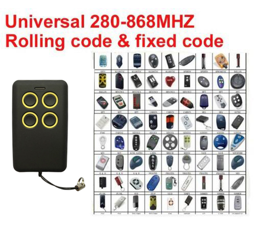 2018 di trasporto del nuovo Auto-Scan 280 mhz-868 mhz Multi Frequenza di marca rolling code duplicatore di controllo remoto ricevitore