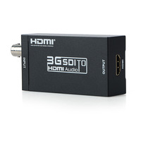 HDMI SDI Converter 3G Full HD 1080P SDI to HDMI Adapter Video Audio Converter With Power Adapter for Driving HDMI Monitors P0