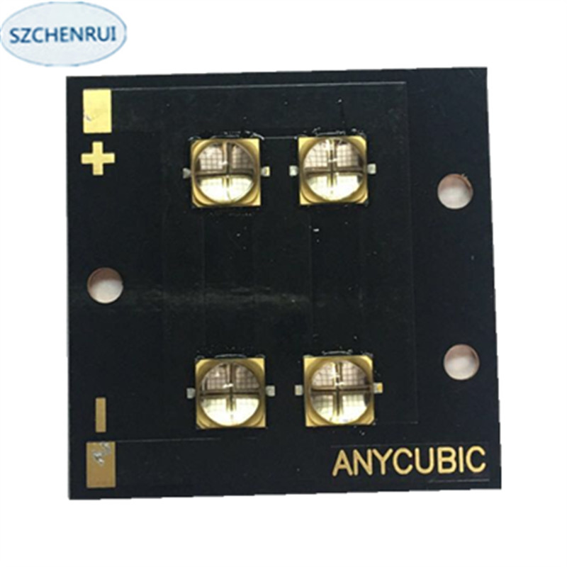 UV-LED module for 3D printer 40 watts high-power LED UV violet 6565 365-370nm 380-385nm 395-400nm 400-405nm 40*40mm board the new 300 watts high power led uv violet 6565 365nm 370nm 380nm 385nm 395nm 400nm 405nm 56 75mm board