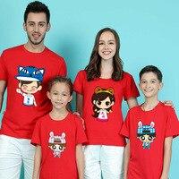 Fashion New Pattern Short Sleeve 2017 Family Dress Children S Garment Summer Cartoon Parenting Dress One