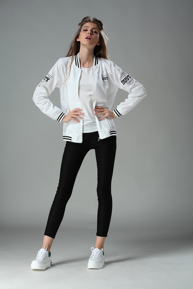 2017 Winter Autumn Flight white bomber jacket women jacket and ...