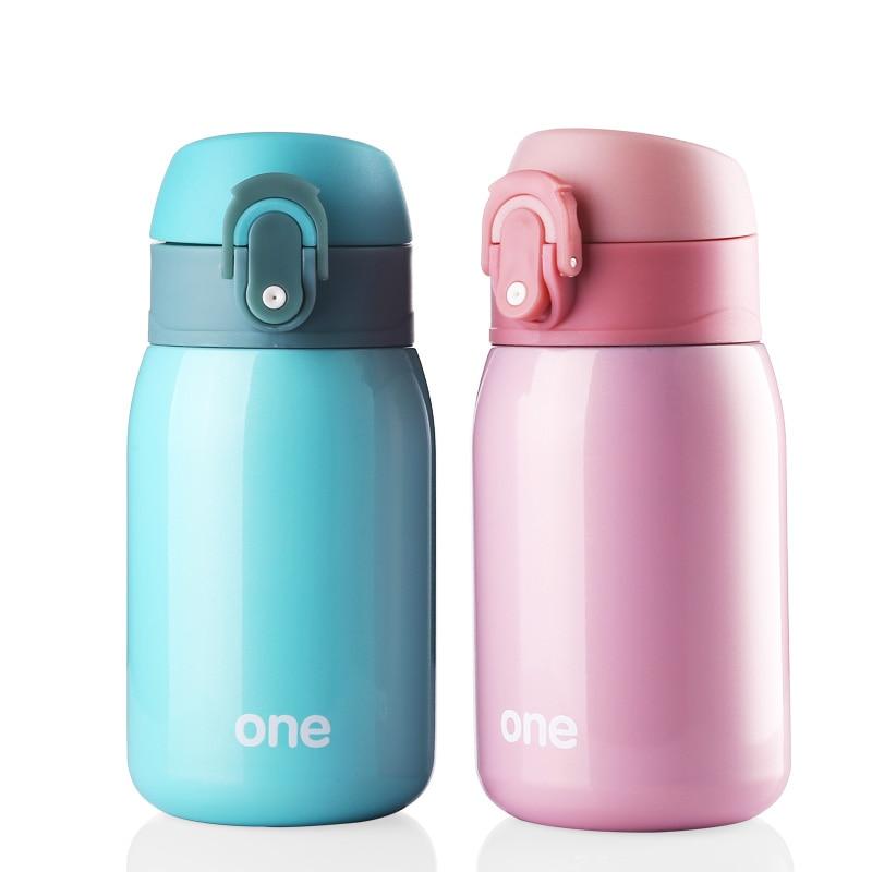 Baby Thermos Cup Piccolo bollitore sottovuoto Bottiglia in acciaio inox a prova di perdite 220 ml tazza di latte Isolamento alimentazione alimentazione potabile
