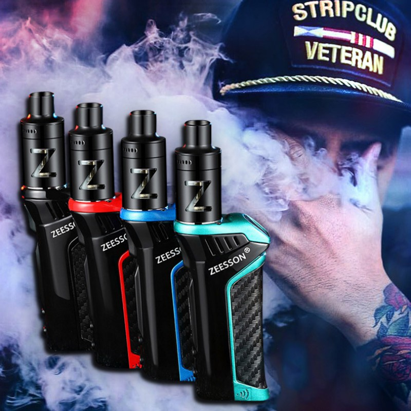 Cool Dazzling forma diseño recargable 100 W concierto humo niebla cesación cigarrillo electrónico Metal cuerpo Vape atomizador vaporizador Kit