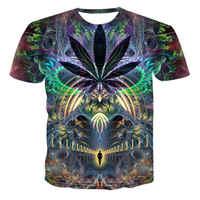 HEULEN HOHEN 2019 T-Shirt psychedelic 3d Print t shirt Frauen Männer Mode Kleidung Tops Outfits Tees Sommer Stil Plus Größe 4XL