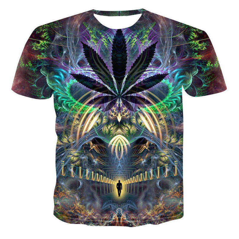 HOWL LOFTY 2019   T  -  Shirt   psychedelic 3d Print   t     shirt   Women Men Fashion Clothing Tops Outfits Tees Summer Style Plus Size 4XL