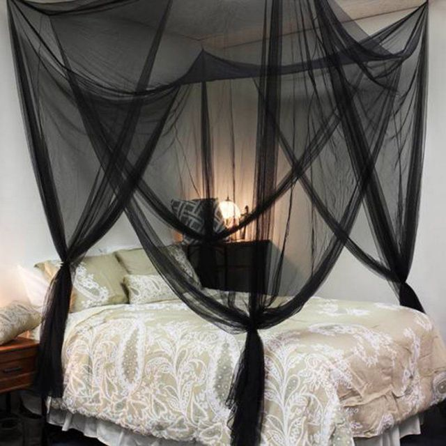 Hot 1pc Elegant Lace Insect Bed Canopy Netting Curtain Dome Mosquito Net Worldwide 4 Doors Open & Aliexpress.com : Buy Hot 1pc Elegant Lace Insect Bed Canopy ...