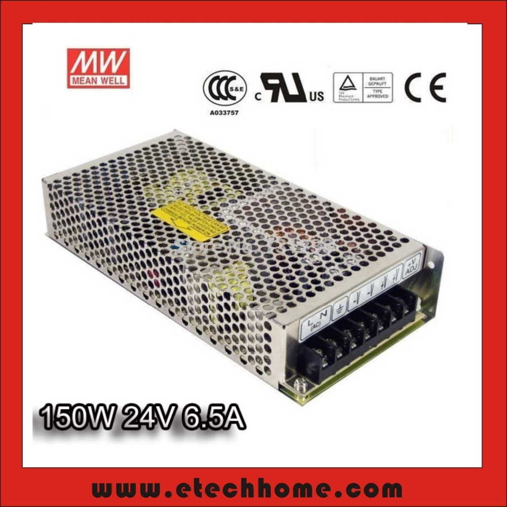 High Quality Mean Well Switching Power Supply 150W 24V 6.5A Single Output NES-150-24 for LED Strip CNC 3D Printer