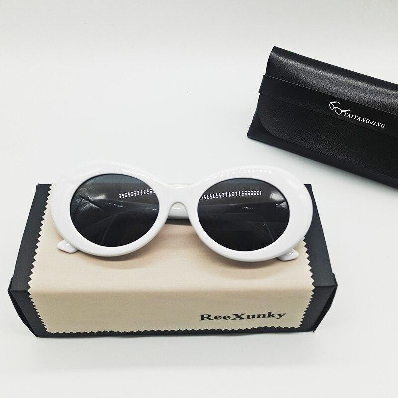 Clout Goggles Kurt Cobain Glasses for Men Curt Cobain Sunglasses Women Retro Round Eyeglasses Trend outdoor Personality Sunglass