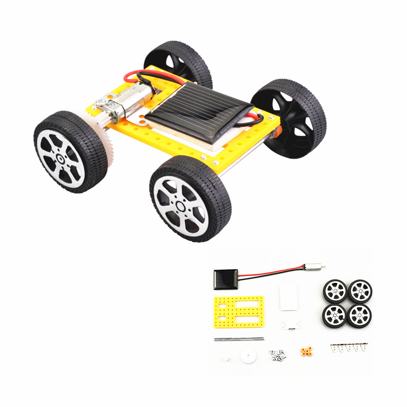 1pcs Mini Solar Powered Toy DIY Car Kit/Solar Panel Powered car