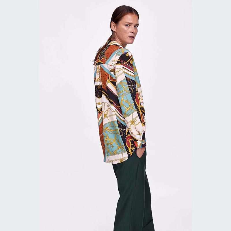 JXYSY 2018 blusa feminina blouse blusas mujer de mod print splicing shirt women tops and blouses plus size 2 piece set