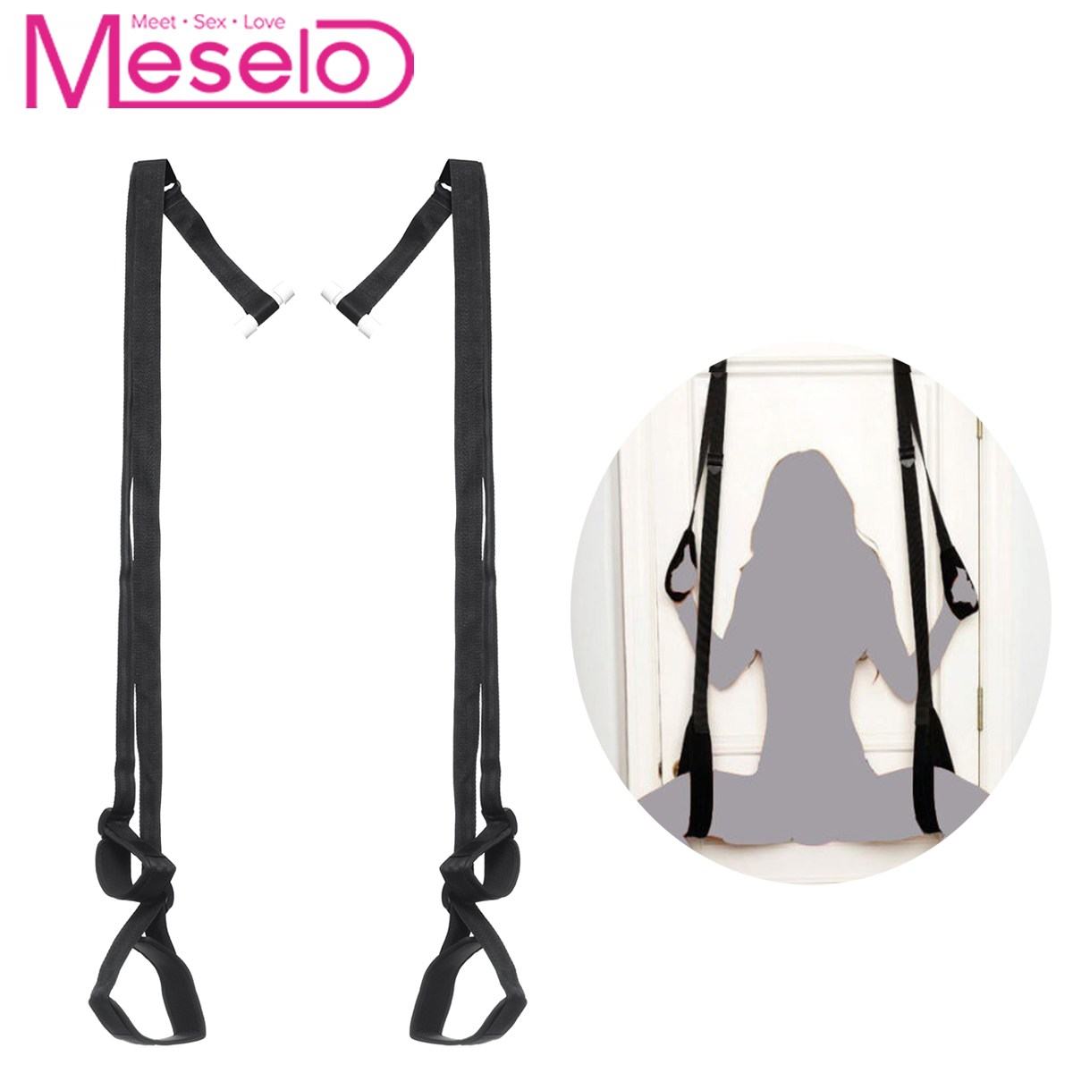 Meselo <font><b>Adult</b></font> bdsm Game <font><b>Sex</b></font> Toys Swing Bondage Straps For Couple Flirting Women Men Sexual Hanging <font><b>Sling</b></font> Rope Toy Erotic Product image