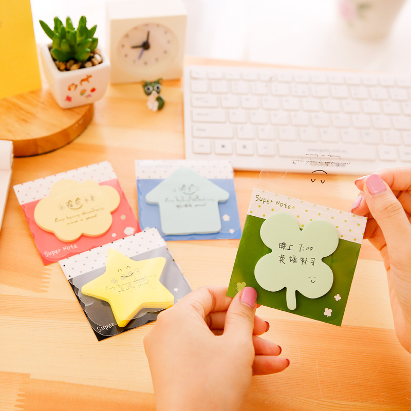 8 pcs/Lot Bling Bling color notes Smile Post memo pad Stationery Office planner sticker accessories School supplies FM460