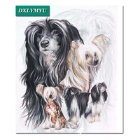 Needlework Drill Shiny A Family Pet Dog 3D Diy Diamond Embroidery Full Square Diamond Painting Cross