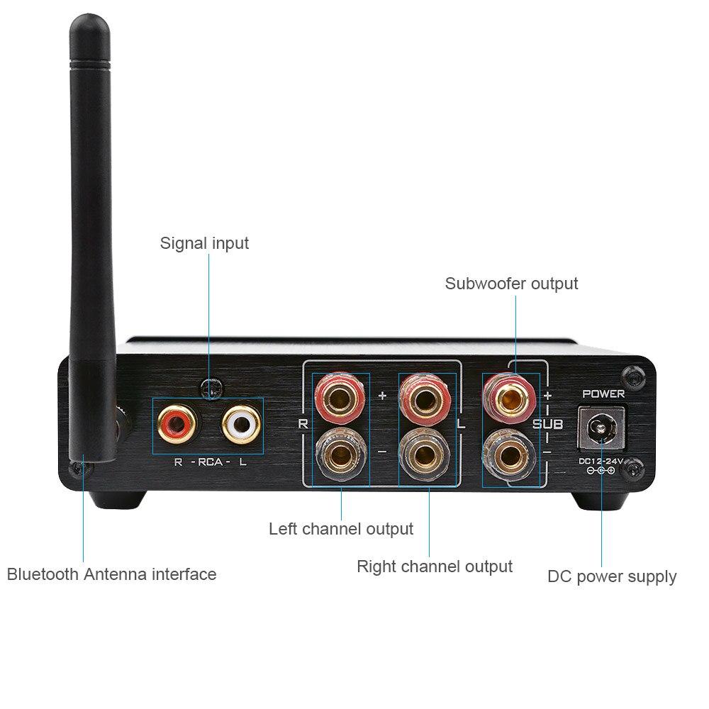 AIYIMA TPA3116 caisson de basses amplificateur Bluetooth HiFi TPA3116D2 2.1 canaux amplificateur Audio numérique 50 W * 2 + 100 W DC12-24V - 5