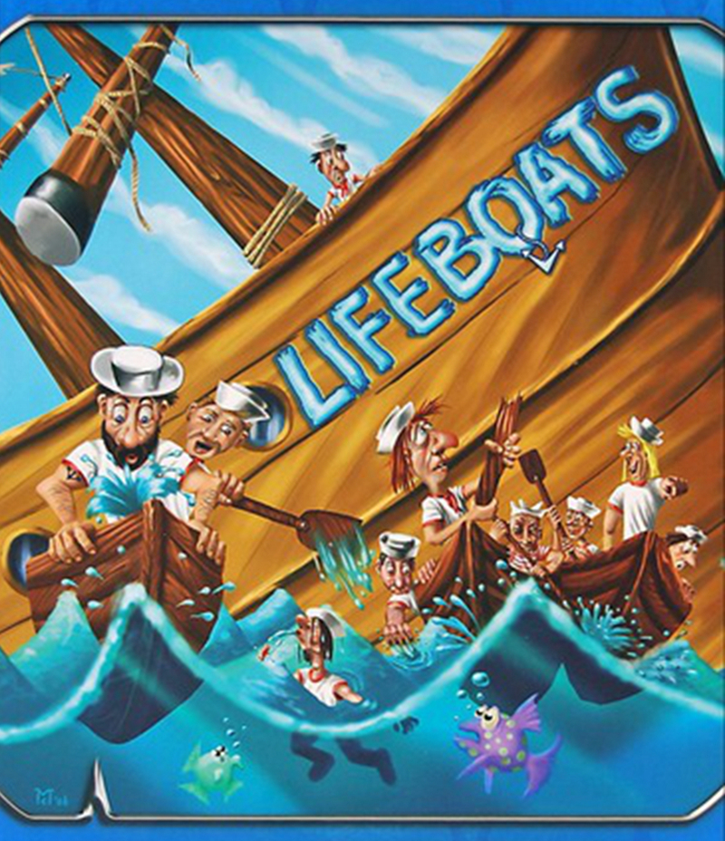 Lifeboats Board Game Rette Sich Wer Kann Puzzle Cards Games Funny Table Game For Party Family  strength training