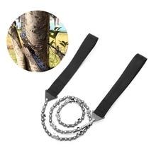 все цены на Portable Folding Survival Chain Saw Pocket Hand Saw Wire Camping Hiking Outdoor Hunting Fish Hand Tool Gardening Emergency Gear онлайн