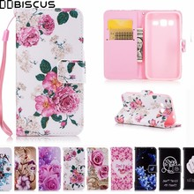 painting Leather Flip Wallet Soft Case For Samsung Galaxy Core Prime Cases SM G360F G360H G361F G361H DS G361F/DS Phone Cover(China)