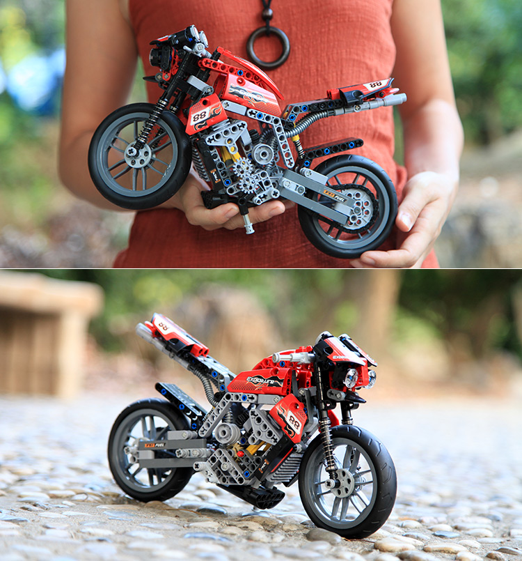 Decool 3353 3354 Technic Motorbike Motorcycle Block Brick Toy Set Boy Game Gift Compatible with Lepin lacywear s4381602 3353