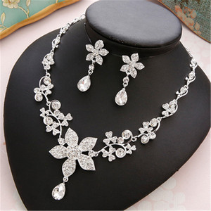 Image 3 - CC Wedding Engagement Jewelry Necklace Earrings Bracelets 2Pcs Sets Bridal Hair Accessories For Cubic Zircon Pearl Charm m011