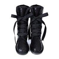 Snow Boots Women Winter Warmer Plush Wool Fur Warm Grain Leather Boots Ladies Winter Mid calf Boots High Quality Snow Botas
