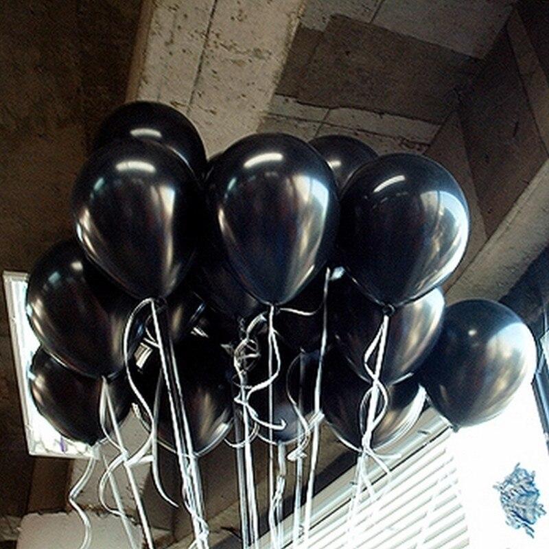 10pcs/lot 1.5g Black Latex Balloon Air Balls Inflatable Wedding Party Decoration Birthday Kid Party Float Balloons Kids Toys
