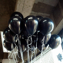 10 ks latexový černý balónek