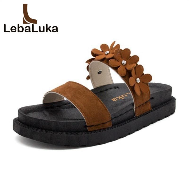 35 Flor Light marfil Lebaluka De Del Tamaño 39 Mujeres Abierto Zapatillas Las Verano Pisos Dedo Vacaciones Mujer Vintage Brown Sandalias Pie EwpBUFwaq