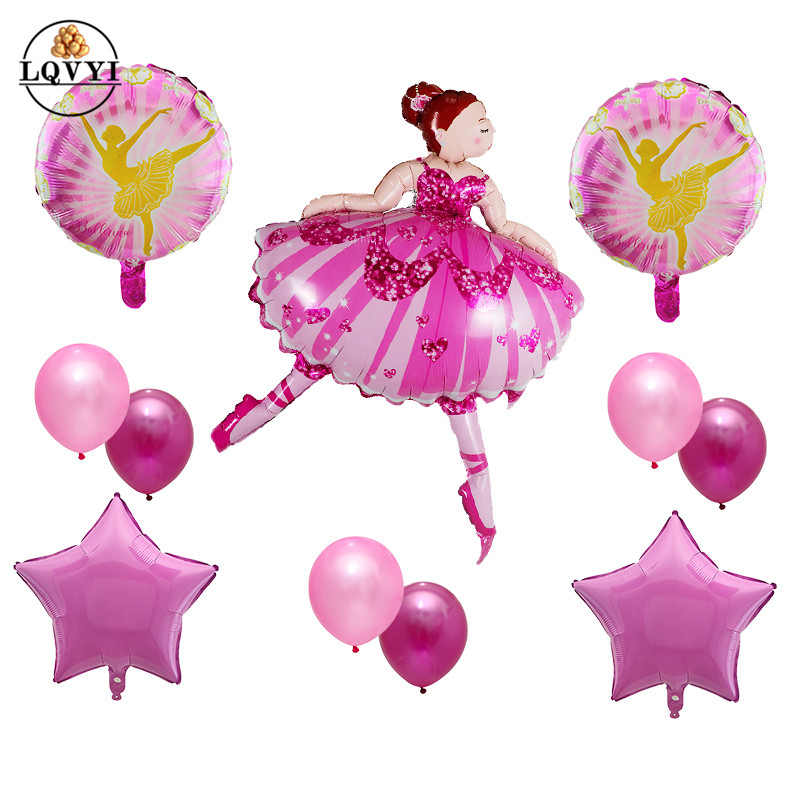 "28/"" Ballerina Tutu SuperShape Mylar Foil Balloon Party Decorating Supplies"