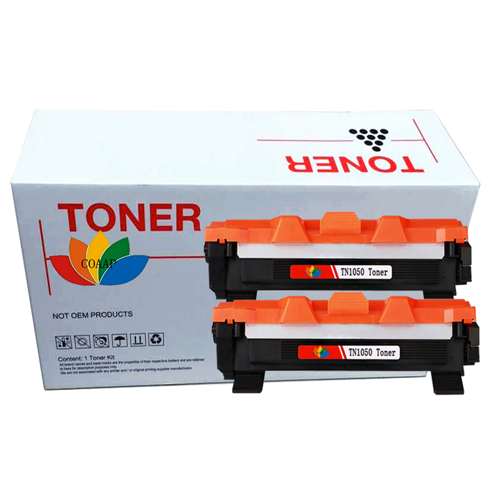 2 Compatible TN1050 Toner Cartridge For Brother DCP 1610W DCP 1612W HL 1210W 1212W MFC1910 Printer