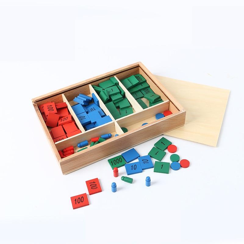 Bois bébé jouet Montessori timbre jeu maths pour l'éducation de la petite enfance préscolaire formation enfants jouets Brinquedos Juguetes - 3