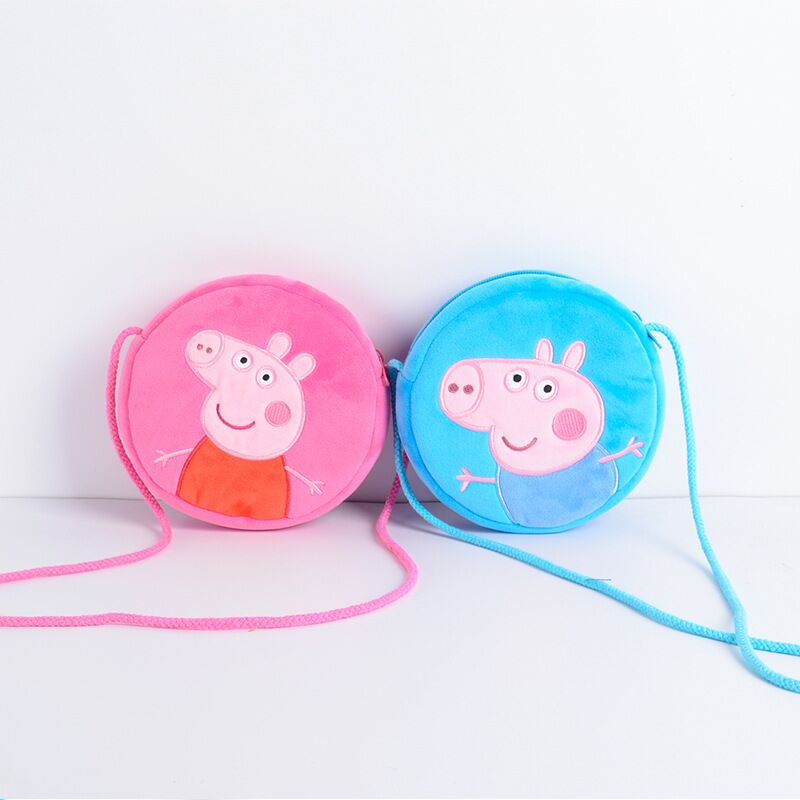 Origins Peppa Pig George Pig Wallet Plush Toys Child Girl Boy Kawaii Kindergarten Schoolbag Backpack Money Child Gift