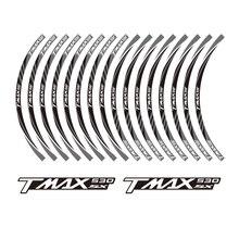 KODASKIN 2D Wheel Rim Emblem Sticker Decal for Yamaha TMAX530SX TMAX 530 SX  yzf tmax 530 kodaskin 2d printing wheel rim emblem sticker decal for yamaha nmax nmax155 abs