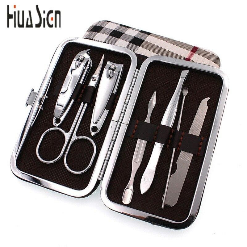 7pcs/Set Nail Clipper Kit Nail Care Pedicure Scissor/Tweezer/Knife ...