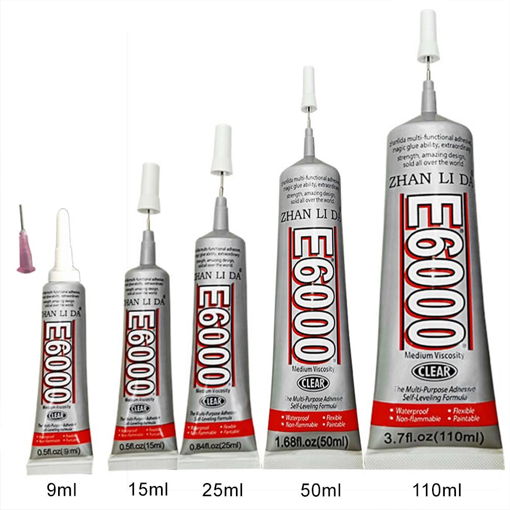 E6000 50ml/110ml Super Liquid Multipurpose Industrial Adhesive Jewelry Crafts Crystal Rhinestone DIY Phone Screen Glass Glue