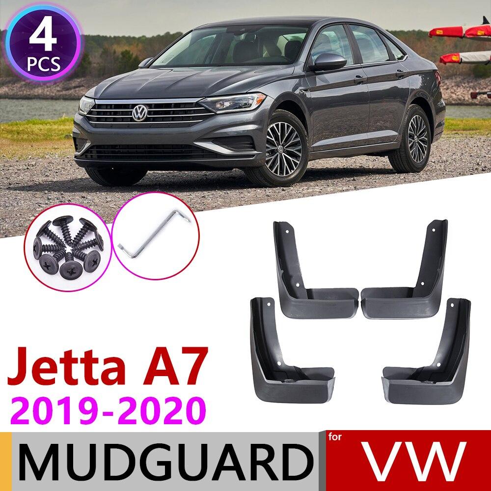4PCS Front Rear Car Mudflap For Volkswagen VW Jetta A7 Mk7 7 2019~2020 Fender Mud Flaps Guard Splash Flap Mudguards Accessories