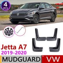 Mudflap 4 PCS Frente Traseira Do Carro para Volkswagen VW Jetta A7 Mk7 7 2019 ~ 2020 Fender Mud Flaps Guarda aba respingo Lamas Acessórios