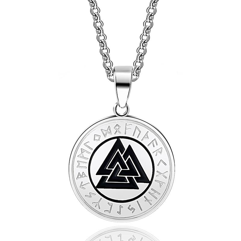 ABAICER-1pcs Slavic Norway Valknut pagan amulet pendant Men necklace Scandinavian Viking jewelry Odin 's Symbol of Norse Warrior