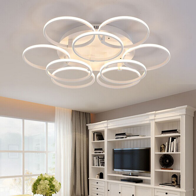 designer modern lighting. creative circle rings designer modern led ceiling lights lamp for living room bedroom remote control lighting a