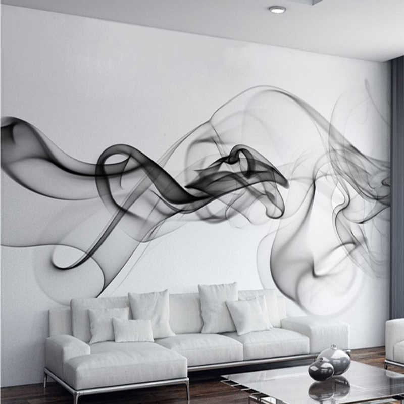 Custom Mural Wallpaper Smoke Clouds Wall Mural Abstract Artistic Wallpaper Modern Minimalist Bedding Room TV Backdrop Wall Paper