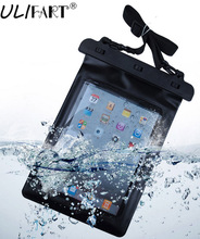 ULIFART Black 100% Waterproof Pouch Dry Bag Sleeve Case Carrying Bag For 9.7Inch iPad Air2 Ipad2/3/4 Tablet Gadget Accessory