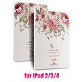Цветочные 3D Releif PU Универсальный Чехол Case Для iPad 2 3 4 Tablet Coque для iPad2 iPad3 iPad4 Capa Обложка Case + HD Экран фильм