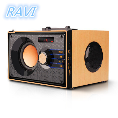 Wooden Bluetooth Speaker Wireless Bluetooth Subwoofer Outdoor Stereo Speaker MP3 Music Player Support FM and TF Remote ControlWooden Bluetooth Speaker Wireless Bluetooth Subwoofer Outdoor Stereo Speaker MP3 Music Player Support FM and TF Remote Control