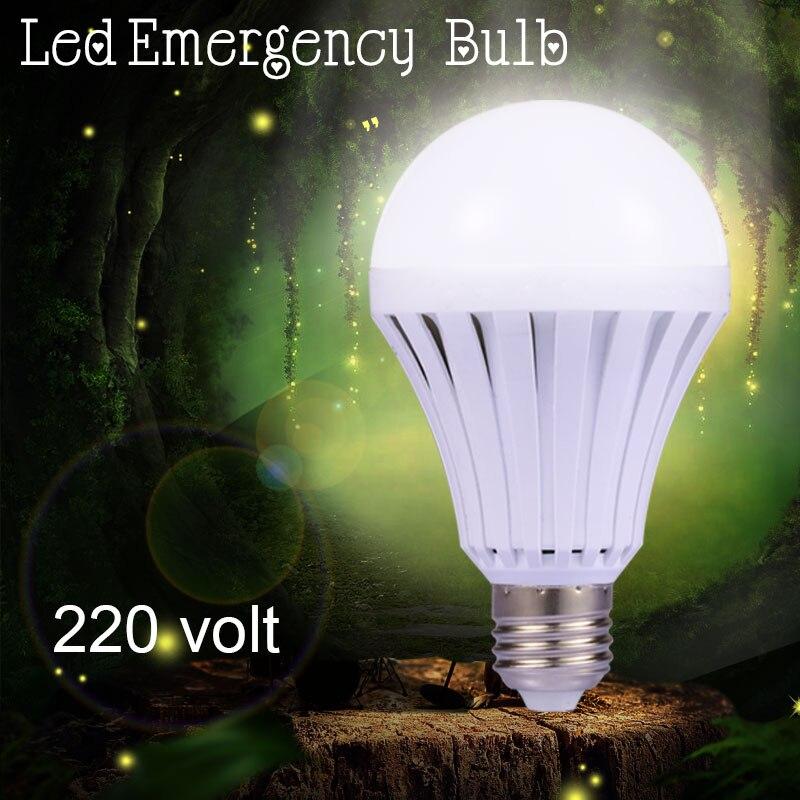 Rechargeable LED Light Bulb E27 5W 7W 9W 12W Led Emergency Bulbs Lamp 220V Saving Energy Intelligent Light Household Lighting lightme smart e27 light bulb intelligent colorful led lamp bluetooth 3 0 speaker for home stage energy saving led light bulbs