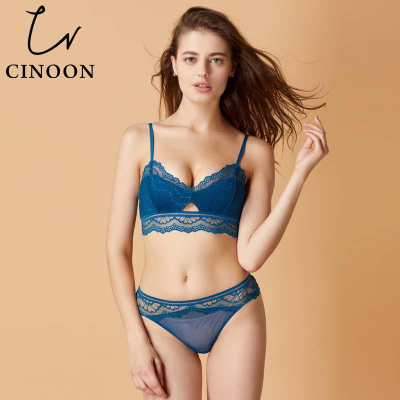 CINOON sexy lingerie Lace Underwear cotton   bra     set   Transparent panty for women 2018 new brassier push up   bra   and   briefs