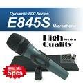 Бесплатная Доставка! оптовые 5 шт./лот Профессиональный E845 Динамический Кардиоидный Вокальный Ручной Караоке Проводной Микрофон микрофон Майк Mic