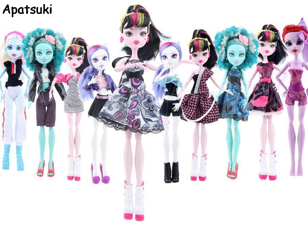 HongShun 5 Set Fashion New Style Lovely Clothes for Monster High Doll. $ $ 16 99 Prime. FREE Shipping on eligible orders. Show only HongShun items. out of 5 stars 3. Yellow Skirt & Pink Crop Tops with A Red Bag Outfits for Monster High Dolls Gift. $ $ 4 FREE Shipping on eligible orders.