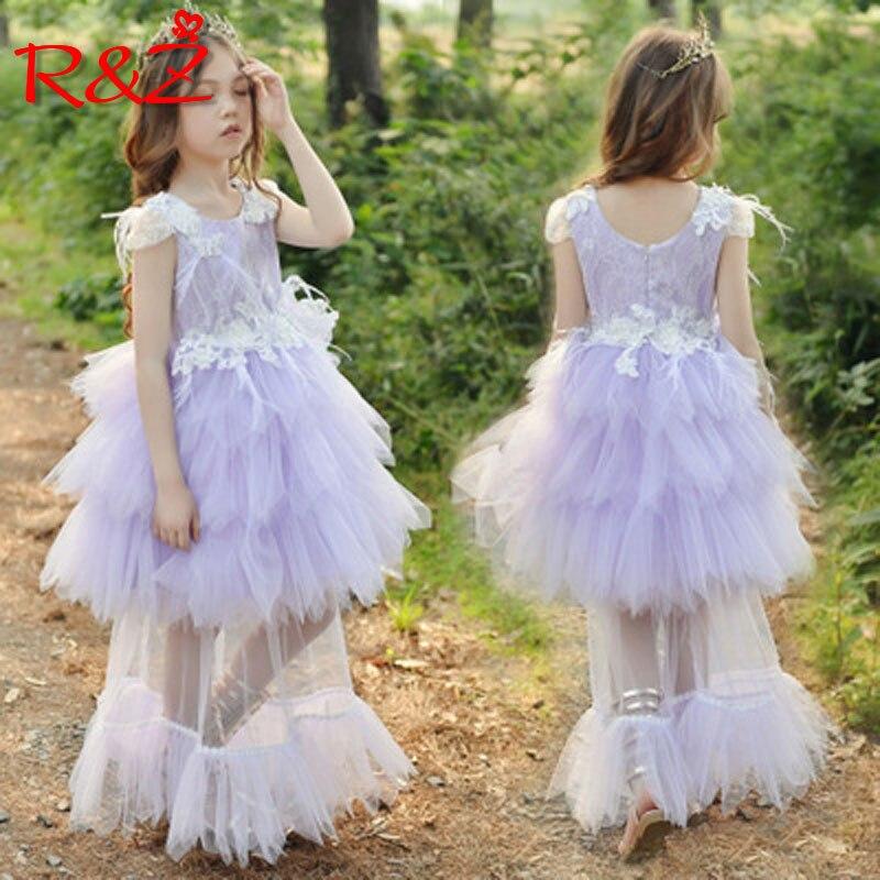R & Z enfants robe 2019 été nouvelles filles européennes et américaines dentelle robe détachable princesse robe filles piano vêtements