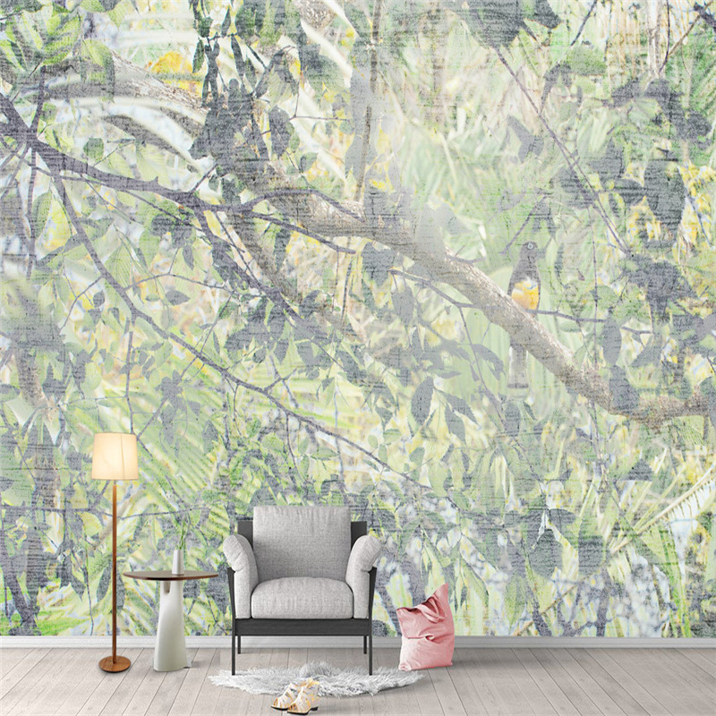Pastoral Custom Wallpaper 3D Country Murals Photo Trees Wallpapers Fresh Florals Bird for Living Room Bedroom Home Decor flame trees of thika