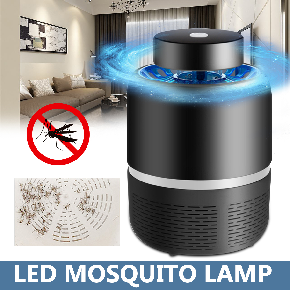 18x15cm Killer Insect Trap Lamp LED Mosqs